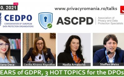 Live Webinar: 3 years of GDPR, 3 hot topics for the DPOs
